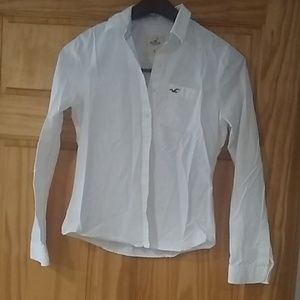 Hollister white button-up